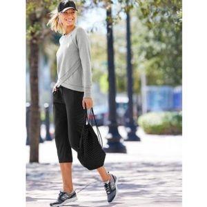 Athleta La Viva Capri Jogger Cropped Pants Size 10
